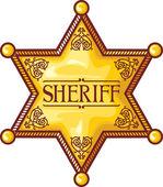 Vector sheriff's star (sheriff badge, sheriff shield) — Stock Vector