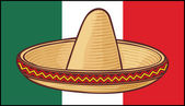Mexico flag (sombrero, mexican hat) — Stock Vector