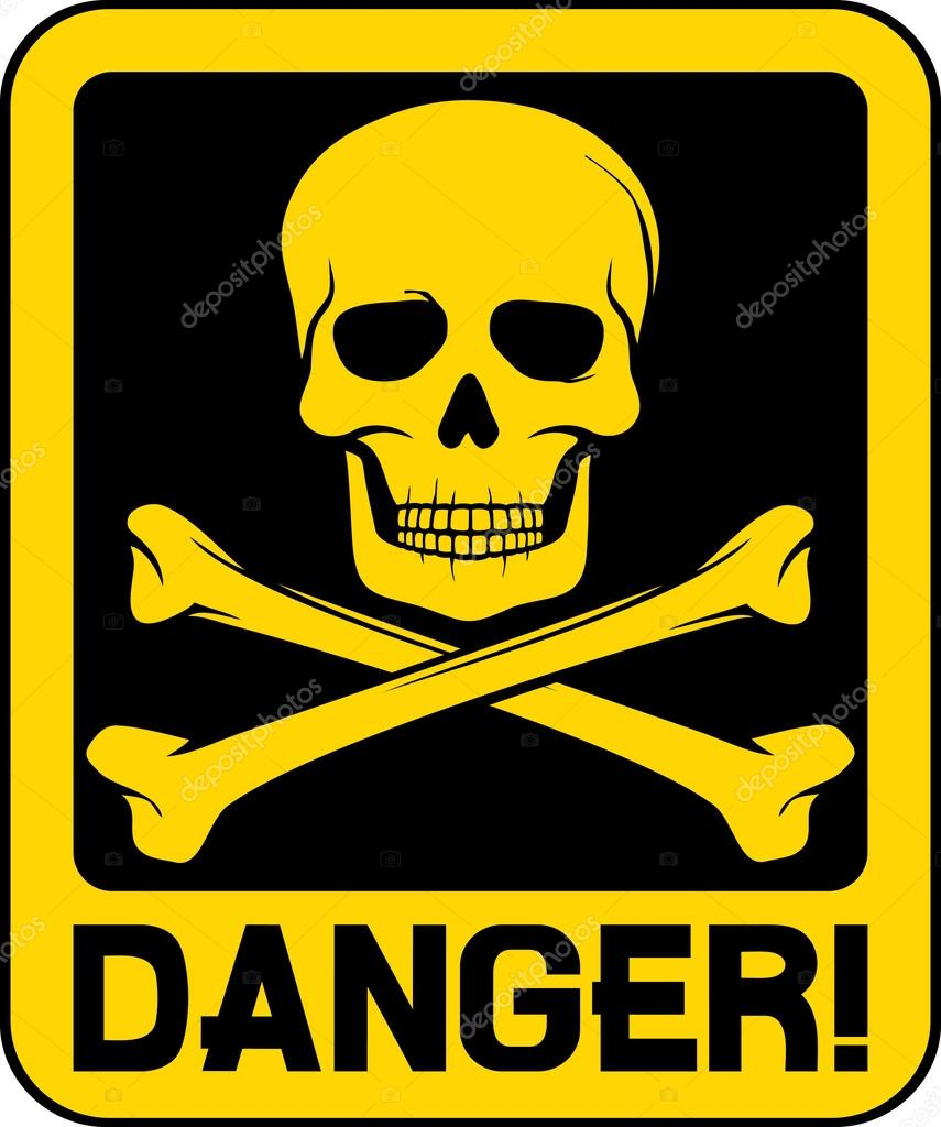 vector danger sign with skull symbol stock vector presidents clip art free present clip art black and white