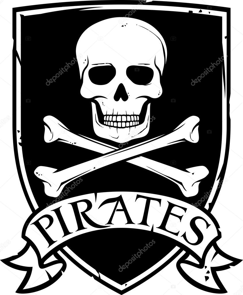 Pirate Vector Flag jolly Roger With Skull And Cross Bones