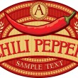 Chili pepper label — Stock Vector #27034237
