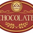Chocolate label — Stock Vector #27034259