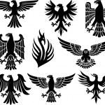 Heraldic eagle set — Stock Vector #27034303