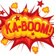 Cartoon - ka-boom — Stock Vector #27034459