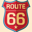 Historic Route US 66 Sign — Stock Vector