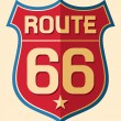 Historic Route US 66 Sign — Stock Vector #27034663