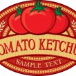 Tomato ketchup label — Stock Vector #27034801