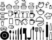 Kitchen icons set — Stock Vector