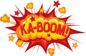Cartoon - ka-boom — Stock Vector