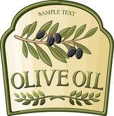 Olive oil label — Stock Vector