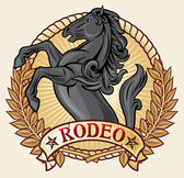 Rodeo label — Stock Vector