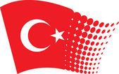 Turkey flag — Stock Vector