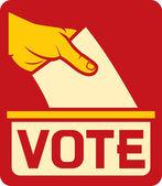 Vote label — Stock Vector
