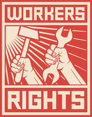 Workers rights poster — Stock Vector