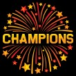 Champions firework design — Stock Vector