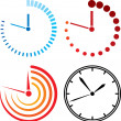 Clock icons — Stock Vector #27132307