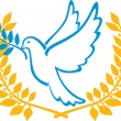 Dove of Peace symbol — Stock Vector