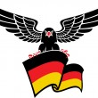 Black eagle with the German flag — Stock Vector