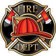 Fire Department or Firefighters Maltese Cross Symbol — Imagen vectorial