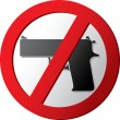 Stock Vector: No gun sign