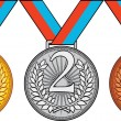 Three Medal — Stock Vector
