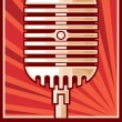 Stock Vector: Music poster (microphone)