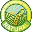 Natural label (natural seal, natural symbol) — стоковый вектор #27132521