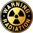 Symbol of radiation — Stock Vector