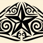 Star tribal design (star tattoo design) — Stock Vector