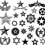 Set of vector stars — Stock Vector