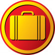 Travel suitcase icon (button) — Stock Vector