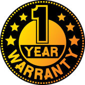 1 year warranty — Stock Vector