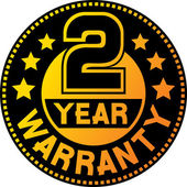 2 year warranty — Vettoriale Stock