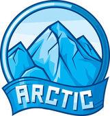 Arctic design label — Stock Vector