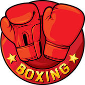 Boxing label — Stock Vector
