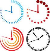 De pictogrammen van de klok — Stockvector
