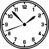 Wektor zegar — Wektor stockowy