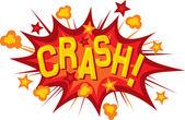 Cartoon - crash — Stock Vector