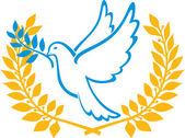 Dove of Peace symbol — Wektor stockowy