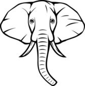 Elephant head — Stock Vector