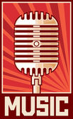 Music poster (microphone) — Stock Vector