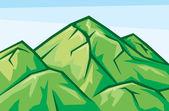 Illustration of mountain landscape — Stock Vector