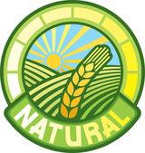 Natural label (natural seal, natural symbol) — Stock Vector