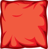 Red pillow — Stock Vector