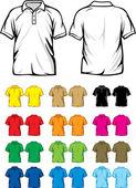 рубашки поло — Cтоковый вектор