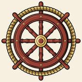 Rudder design (badge, emblem) — Stock Vector