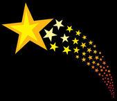 Shooting stars (flying stars) — Stock Vector