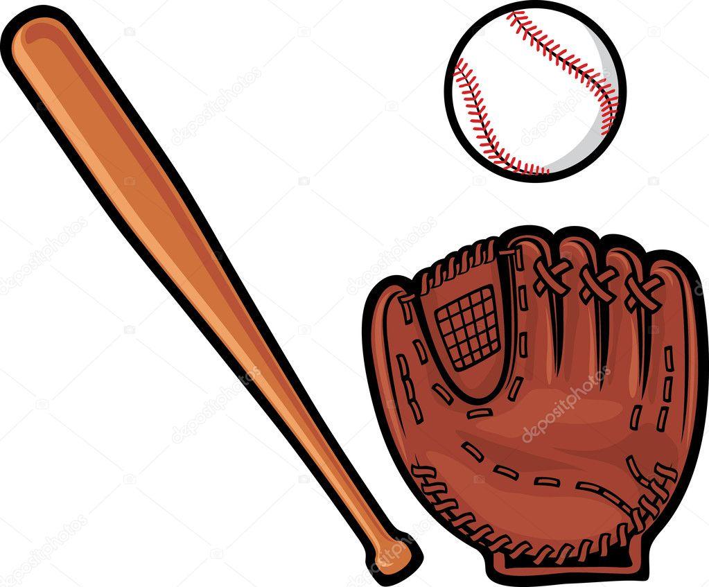 Bate, Pelota Y Guante De Béisbol