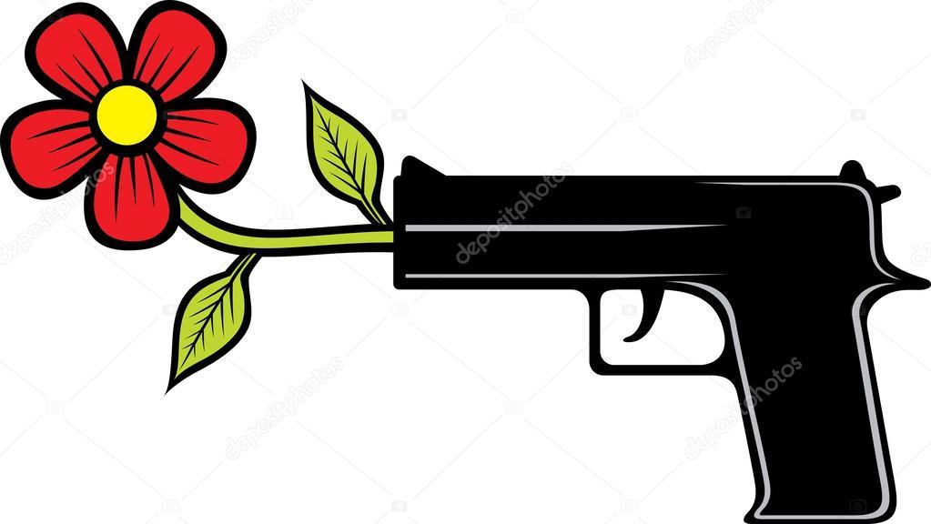 the gun shoots flowers stock vector  u00a9 tribaliumivanka Bullet Hole Silhouette Bullet Hole Clip Art