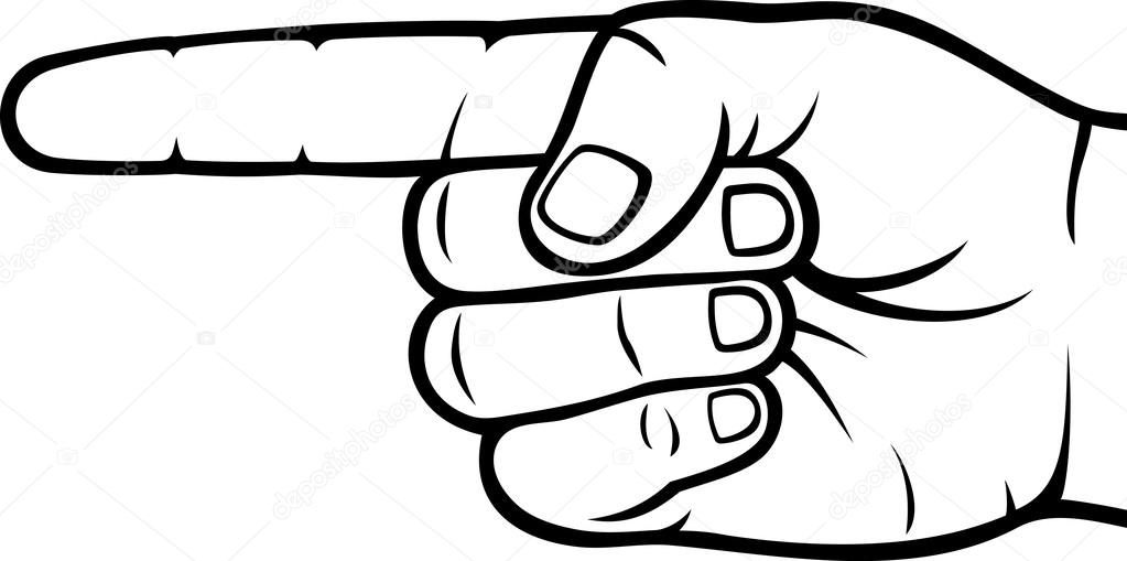 Hand Pointing Finger Vector Illustration Stock Photos